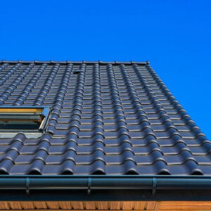 Building with black roof