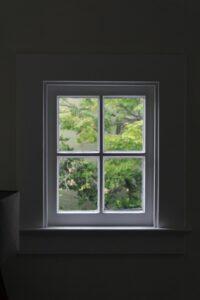 A beautiful newly installed window.